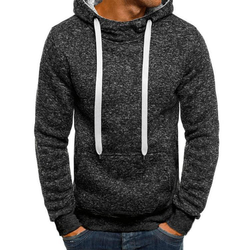 PMS Basic Men's Solid Color Hoodie