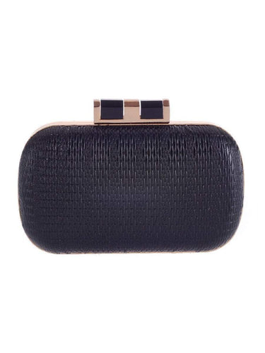 PMS black / one size Embossed Pu Evening Clutch Bag