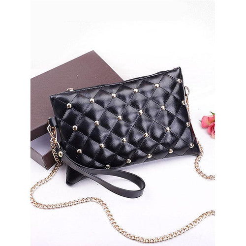 PMS black / one size Gold Rivets Quilted Two Ways Crossbody Bag