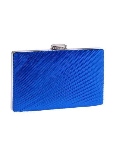 PMS blue / one size Simplicity Pleats Evening Clutch Bag