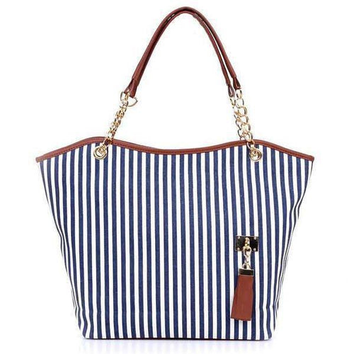 PMS blue / one size Single Back Chain Tassel Casual Bag