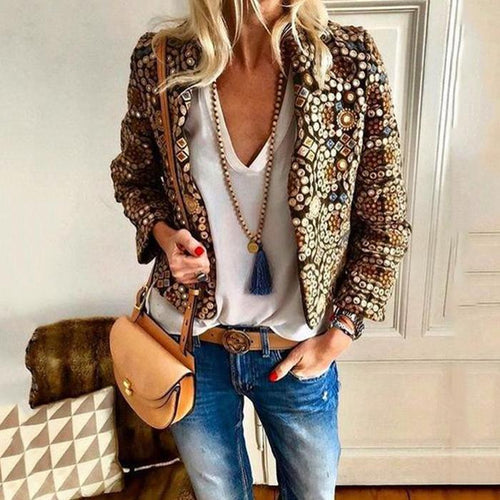 PMS coat Autumn And Winter   Fashion Printing Family Style Jacket