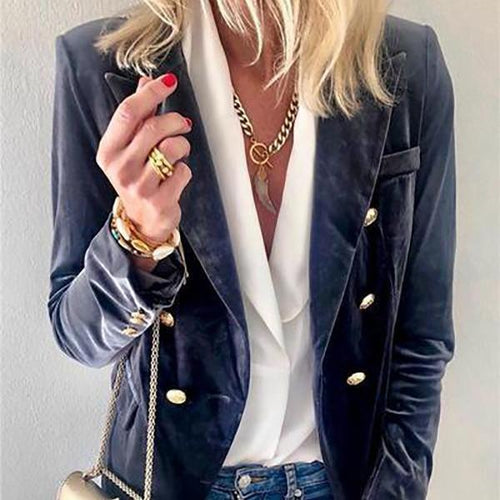 PMS Coats & Jackets Autumn And Winter   Fashion Suede Suit Jacket