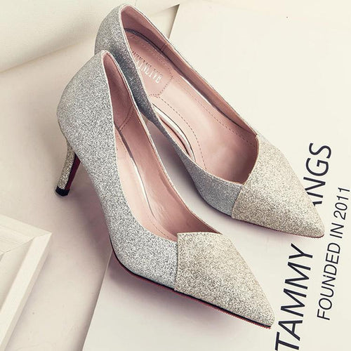 PMS Crystal Sequins Wedding Bridesmaids Shoes