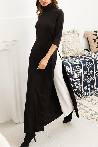 PMS Dresses Fashion Casual Knit Stretch Large Size Dress