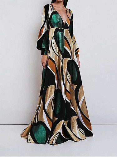 PMS Elegant And Fashionable   Print  Maxi Dress