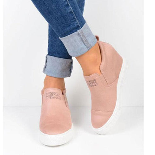 PMS Flat Shoes Pink / us5 Fashion Round Head Flat Shoes