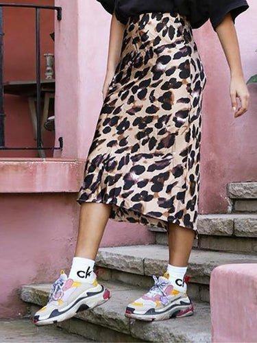 PMS Holiday Wind Leopard Skirt