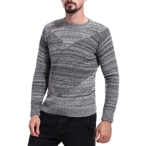 PMS Light Gray / m Classic Crew Neck Weave Sweater