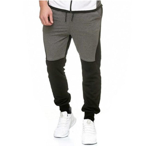 PMS Man's Pants Gray / m Casual Split Joint Floss Sport Pants
