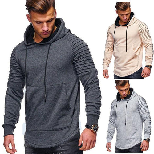 PMS Men Casual Plain Slim Ruffly Sport Cardigan
