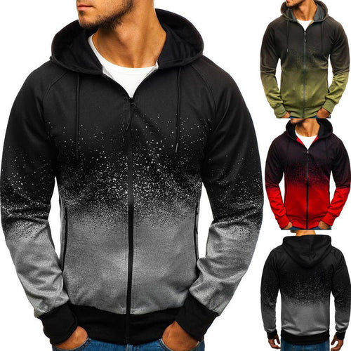 PMS Men Men's  Zipper Sweatshirt