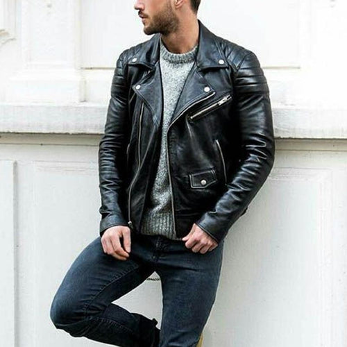 PMS Men's Outwears Must Have Terminator Men's PU Leather Jacket