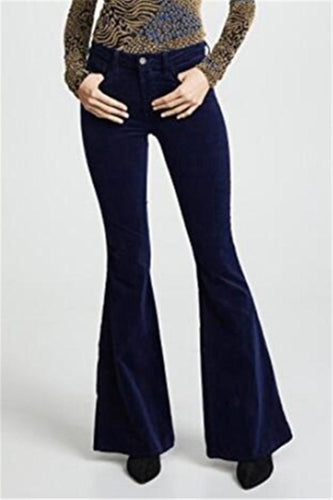 PMS Pants Blue / s Fashion Casual Sexy Slim Bell Bottoms Package Buttocks Pants