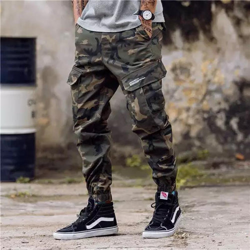 PMS Pants Men Loose Multi-Pocket Jogger Pants