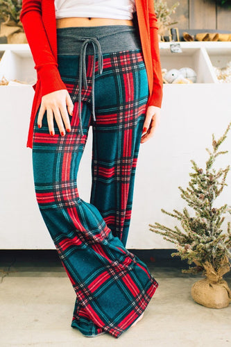 PMS Pants Sport Casual Fashion Plaid Printed Loosen Pants