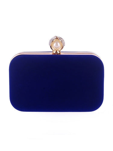 PMS Pearl Basic Diamante Evening Clutch Bag