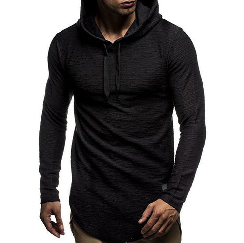 PMS Performance Hoodies Black / m Casual Plain Or Printed Slim Hoodie With Hat