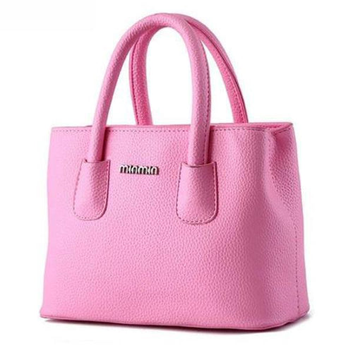 PMS pink / one size Candy Color Plain Pu Basic Handbag