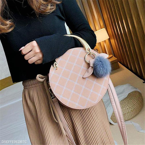Fashion Elegant Casual Rhombus Round Shape One Shoulder Hand Bag