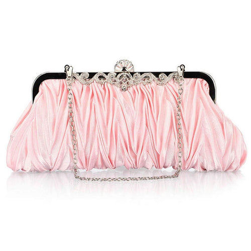 PMS pink / one size Pleats Design Evening Clutch Bag