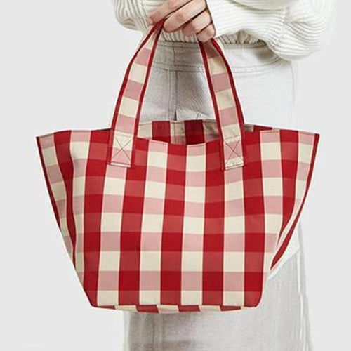 PMS red / one size Fashion Casual Plaid Hand Bag