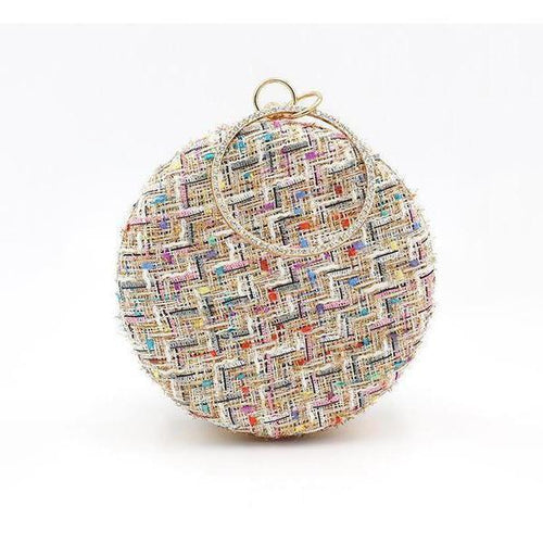 PMS same_as_photo / one size Fashion Color Block Round Hand Bag