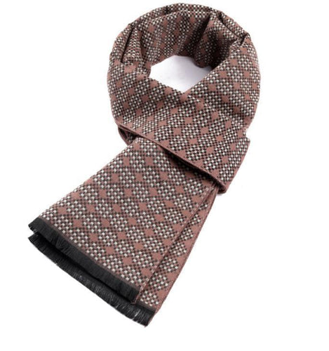 PMS scarf Autumn and winter imitation cashmere double-sided style jacquard plaid scarf