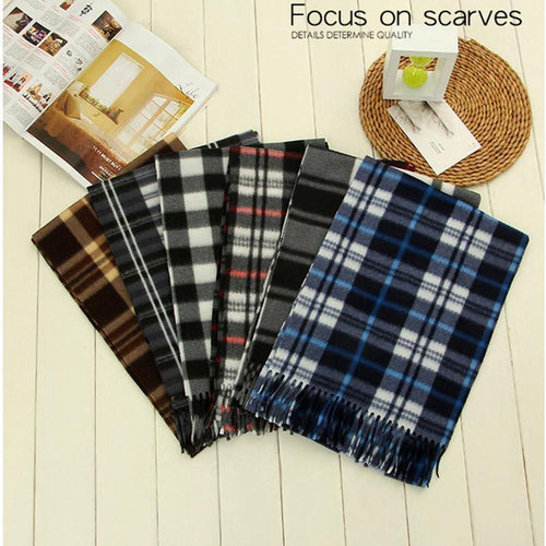 PMS scarf Same As Photo / one size Autumn and winter warm men's plaid scarf(Random delivery)