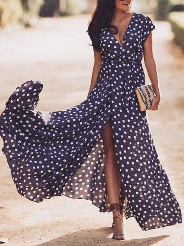 PMS Sexy Floral Print Sleeveless Maxi Dress