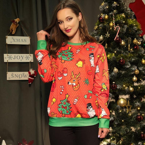 PMS Tops Same As Photo / s Christmas New Fashion   Print Sweater