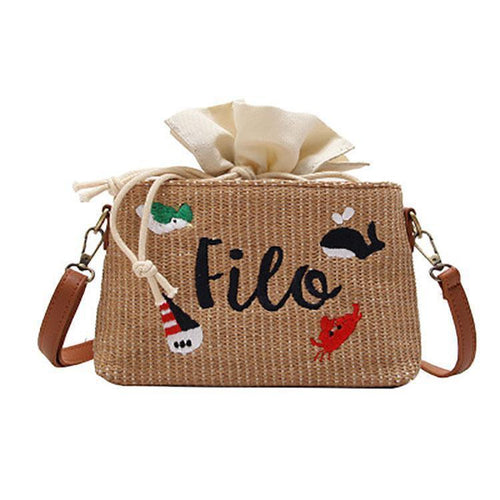 PMS Woven Shoulder Bag
