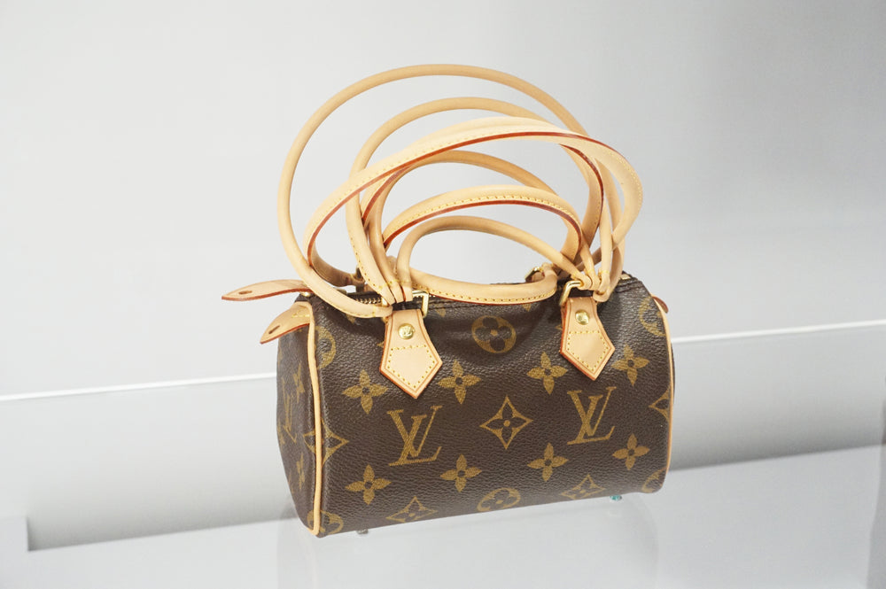 Louis Vuitton Mini speedy 2-way bag messenger bag pouch hand bag purse