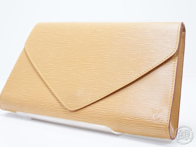 AUTHENTIC PRE-OWNED LOUIS VUITTON LV EPI BEIGE POCHETTE ARTS-DECO GM CLUTCH BAG M52636 153602