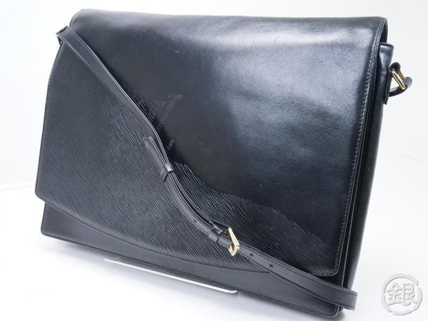 AUTHENTIC PRE-OWNED LOUIS VUITTON CUIR OPERA BLACK NOIR EPI RHODES SHOULDER BAG M63912 160308