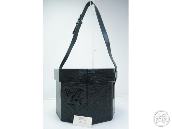 AUTHENTIC PRE-OWNED LOUIS VUITTON LV EPI BLACK OCTOGONAL COSMETIC VANITY SHOULDER BAG M80150 160764