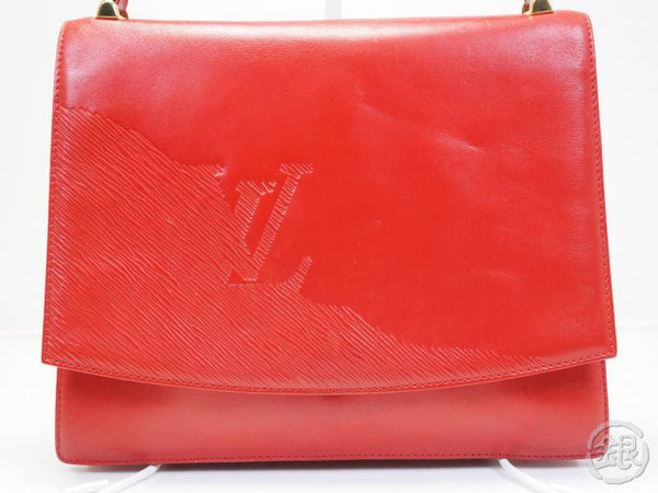 AUTHENTIC PRE-OWNED LOUIS VUITTON CUIR OPERA ROUGE RED EPI DELPHES SHOULDER BAG M63937 152557