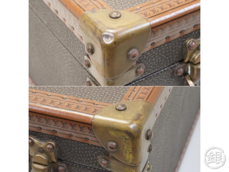 AUTHENTIC PRE-OWNED LOUIS VUITTON VINTAGE  SPECIAL ORDERED BISTEN 60 LUGGAGE TRUNK BAG CASE 162042