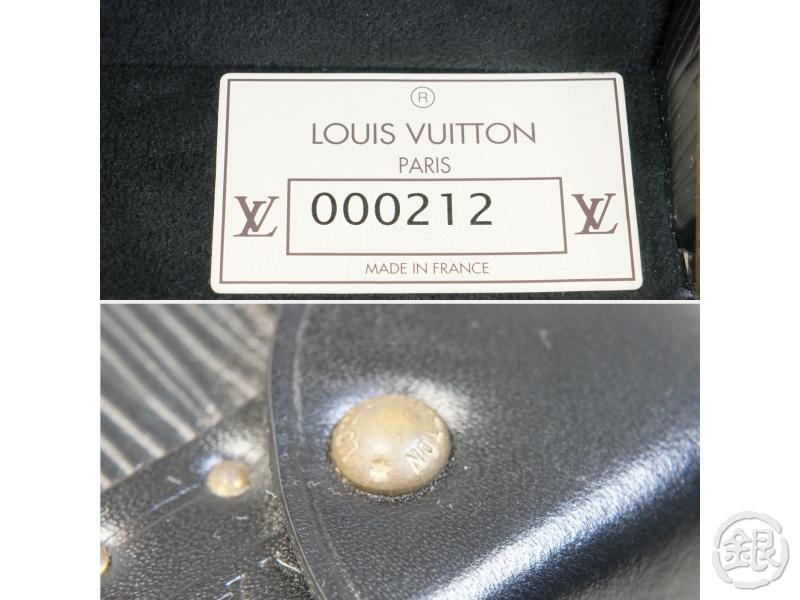 AUTHENTIC PRE-OWNED LOUIS VUITTON EPI SPECIAL ORDERED BLACK NOIR BOITE FLACONS COSMETIC BAG 162087