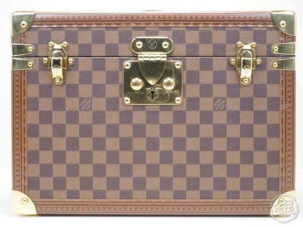 AUTHENTIC PRE-OWNED LOUIS VUITTON SPECIAL ORDERED DAMIER BOITE PHARMACIE LARGE COSMETIC VANITY TRAIN CASE BAG