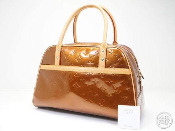 AUTHENTIC PRE-OWNED LOUIS VUITTON VERNIS BRONZE TOMPKINS SQUARE DUFFLE SPORT BAG M91103 121862