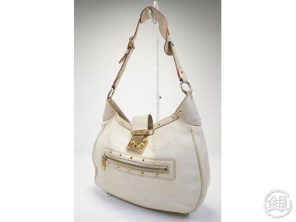 AUTHENTIC PRE-OWNED LOUIS VUITTON SUHALI BLANC WHITE L'AFFRIOLANT SHOULDER BAG M92850 141133
