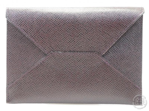 AUTHENTIC PRE-OWNED LOUIS VUITTON TAIGA ACAJOU VIP Limited NOVELTY CARD CASE SMALL CLUTCH BAG 162180