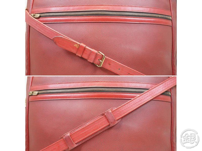 AUTH PRE-OWNED LOUIS VUITTON CHALLENGE LINE 2 LV CUP1987 RED SEAFARER HAND BAG STRAP M46124 153855