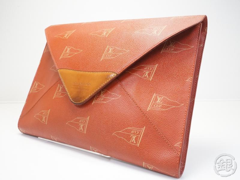AUTHENTIC PRE-OWNED LOUIS VUITTON AMERICA'S CUP 95 RED ENVELOPE CLUTCH BAG FOLDER BRIEFCASE 162008