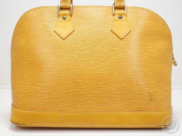AUTHENTIC PRE-OWNED LOUIS VUITTON LV EPI TASSILI YELLOW ALMA HAND BAG PURSE M52149 170221