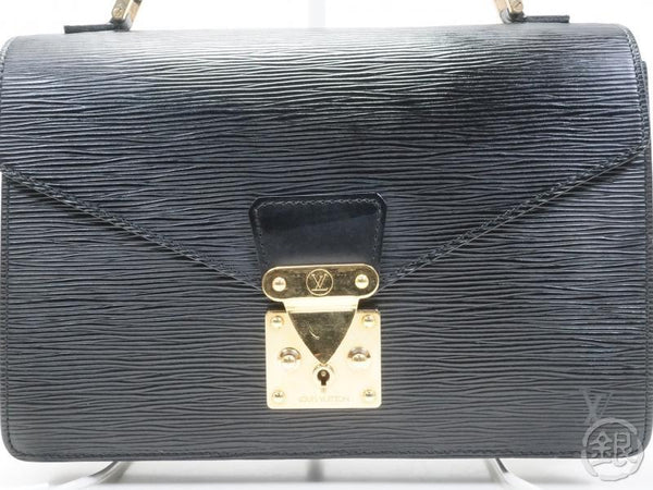AUTHENTIC PRE-OWNED LOUIS VUITTON LV EPI BLACK NOIR CONCORDE HAND BAG SATCHEL M52132 170218
