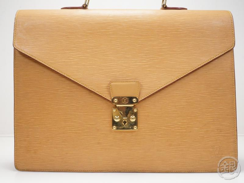 AUTHENTIC PRE-OWNED LOUIS VUITTON VINTAGE EPI WINNIPEG BEIGE AMBASSADEUR BUSINESS BAG M54416 170537