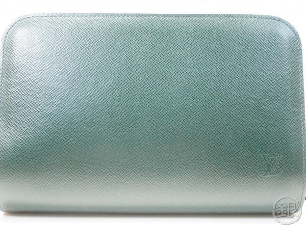 AUTHENTIC PRE-OWNED LOUIS VUITTON TAIGA EPICEA DARK GREEN POCHETTE BAIKAL CLUTCH BAG M30184 171210