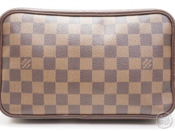 AUTHENTIC PRE-OWNED LOUIS VUITTON DAMIER TROUSSE TOILETTE POUCH CLUTCH BAG N47623 172056